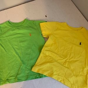 2 Ralph Lauren Polo t-shirts yellow & green 2T